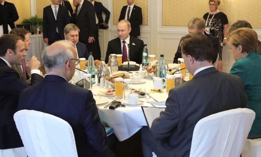 Диетологи заглянули в тарелки Путина, Трампа, Меркель и Санчеса