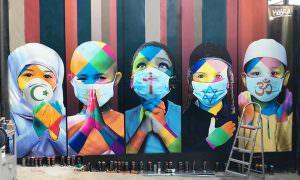 «Разлука, в которой мы вместе». Бразильский уличный художник создал картину, волнующую всех