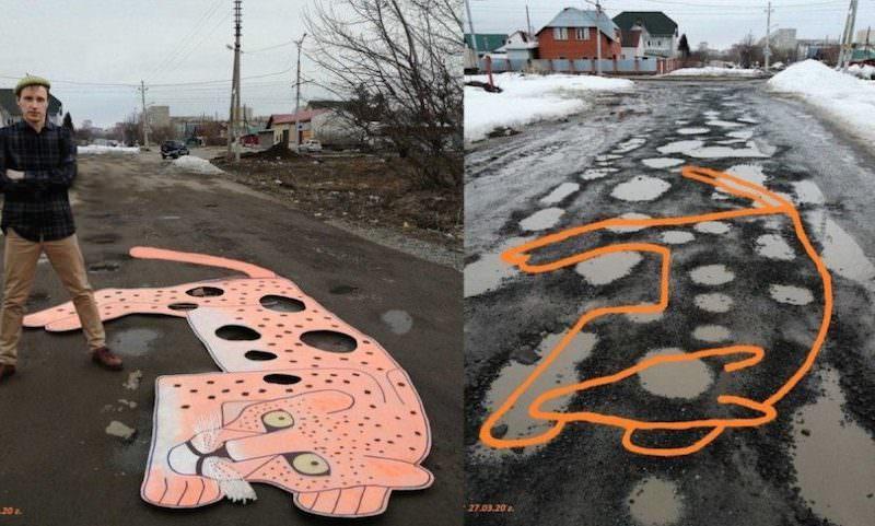 Любовь к дорогам и ямам довела новосибирца до художества