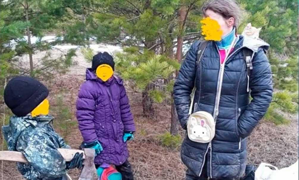 Российская семья спряталась от коронавируса в лесу