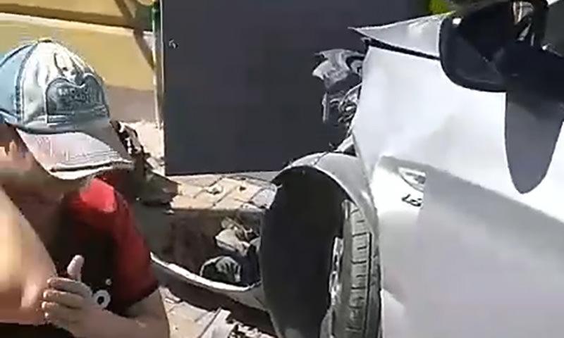 """""""До сих пор молотит"""": автомобиль чуть не снес голову рабочему в Ростове"""