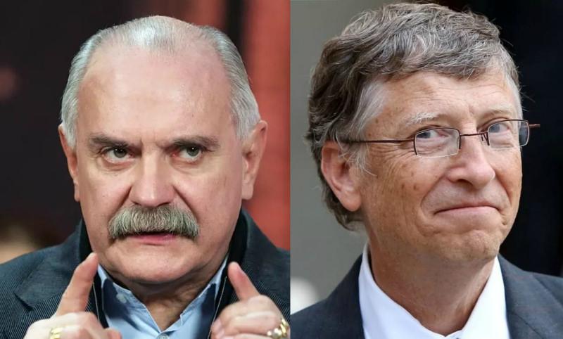 «Цель - сокращение человечества»: Михалков обвинил Билла Гейтса в желании чипировать людей