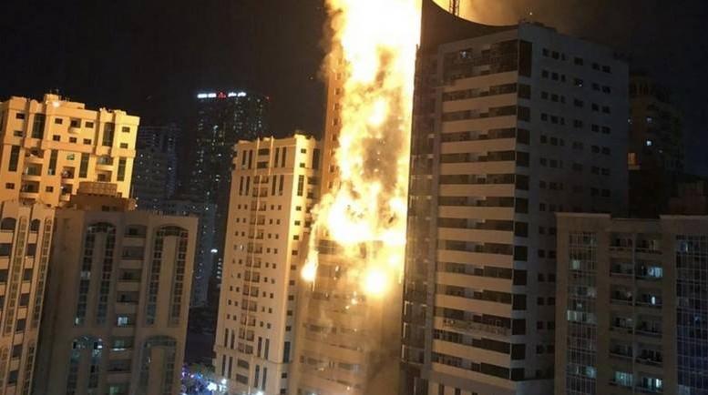 В Эмиратах как свеча вспыхнул 48-этажный небоскреб