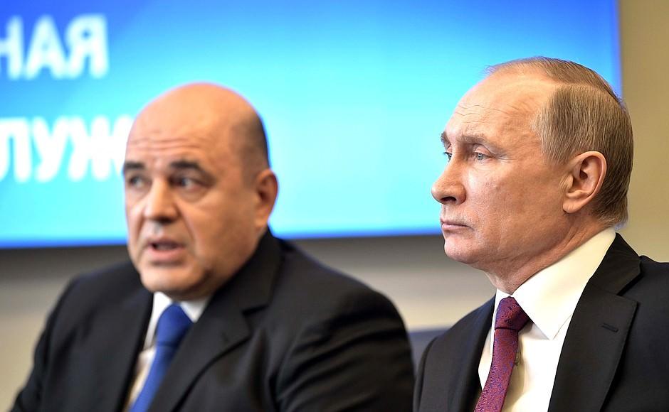 В ходе совещания с министрами Путин рассказал о состоянии Мишустина