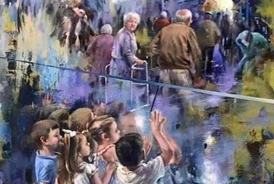 До слёз! Испанский художник посвятил картину непопрощавшимся