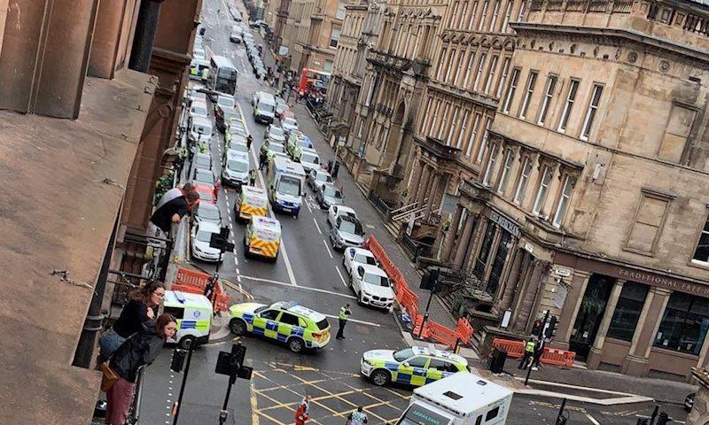 В Глазго убит мужчина с ножом, напавший на отель