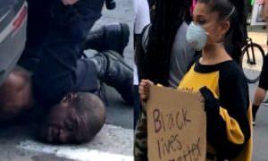 «Я не могу дышать»: в Сети появилось новое видео задержания Джорджа Флойда
