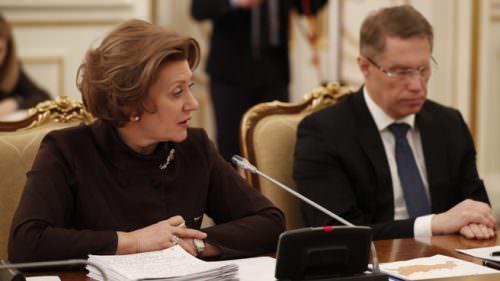 Глава Роспотребнадзора Анна Попова и министр здравоохранения Михаил Мурашко