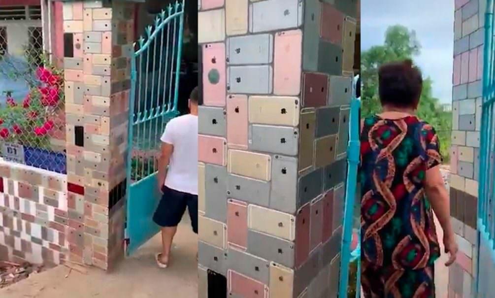 Забор частного дома из сотен iPhone поразил пользователей соцсетей