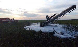 Опубликовано видео с места крушения самолета в Нижегородской области, где чудом выжил один человек