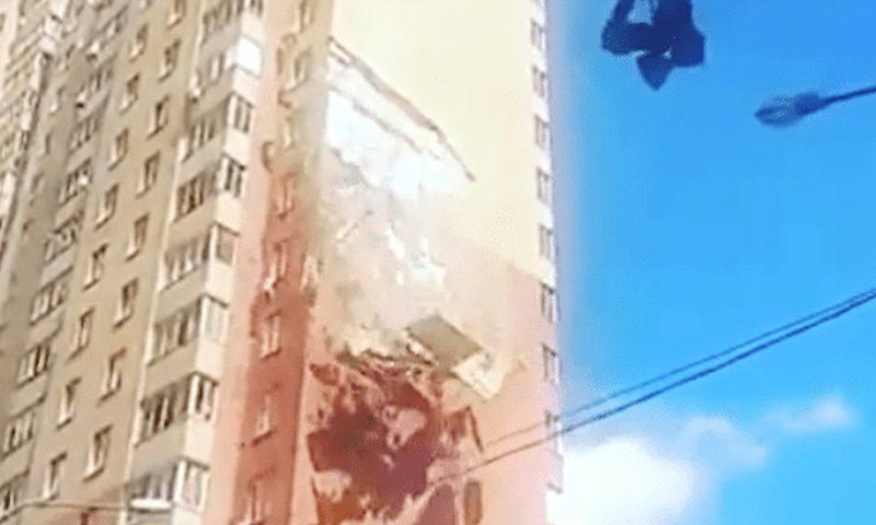 В Балашихе у многоэтажного дома обрушилась часть стены