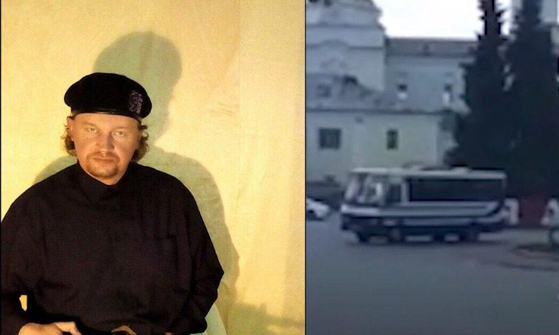 Автор книги о преступлениях захватил автобус с пассжирами в украинском Луцке