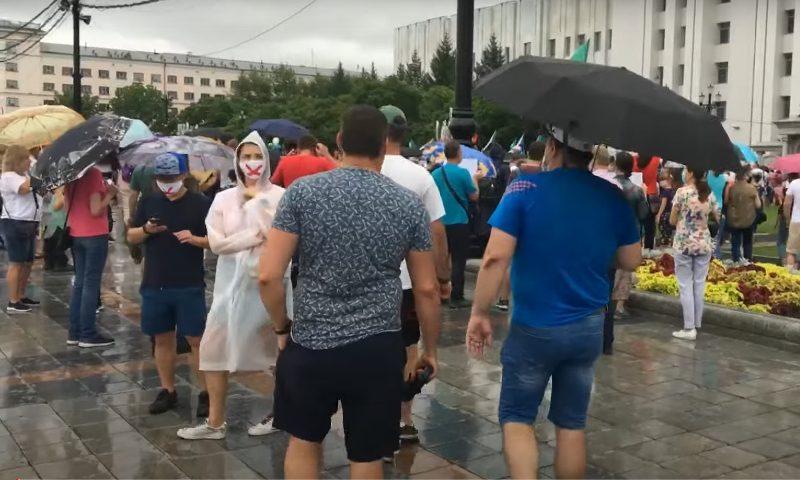 Мэрия Хабаровска утверждает, что за неделю число митингующих за Фургала сократилось вдвое