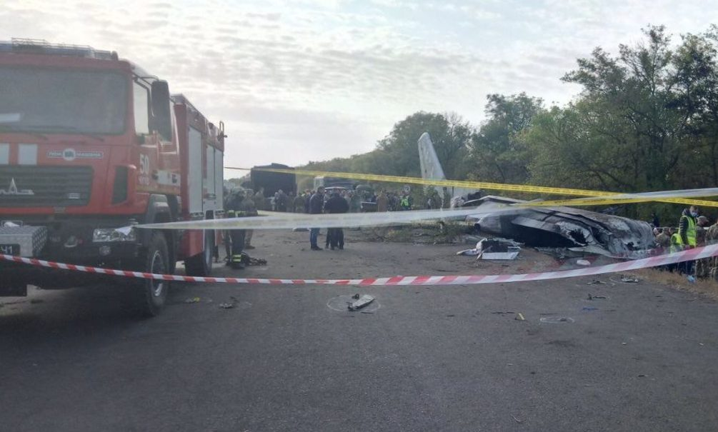 Момент падения и взрыва украинского Ан-26 попал на видео