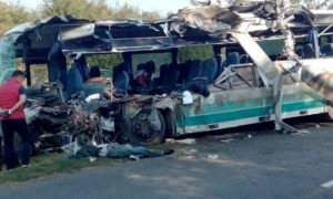 Автобус смяло, как бумагу: жуткая авария с семью жертвами попала на видео