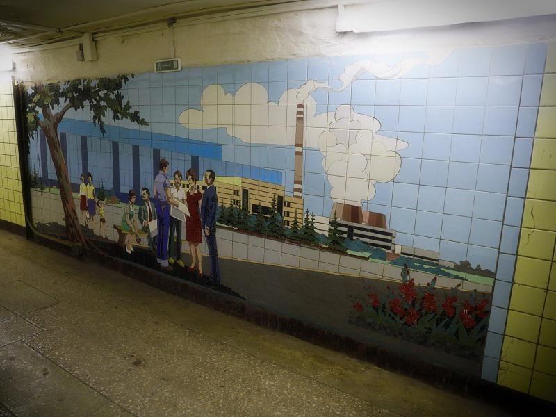 В Волгодонске в «секретном» подземном переходе завода обнаружили уникальную мозаику из Ростова