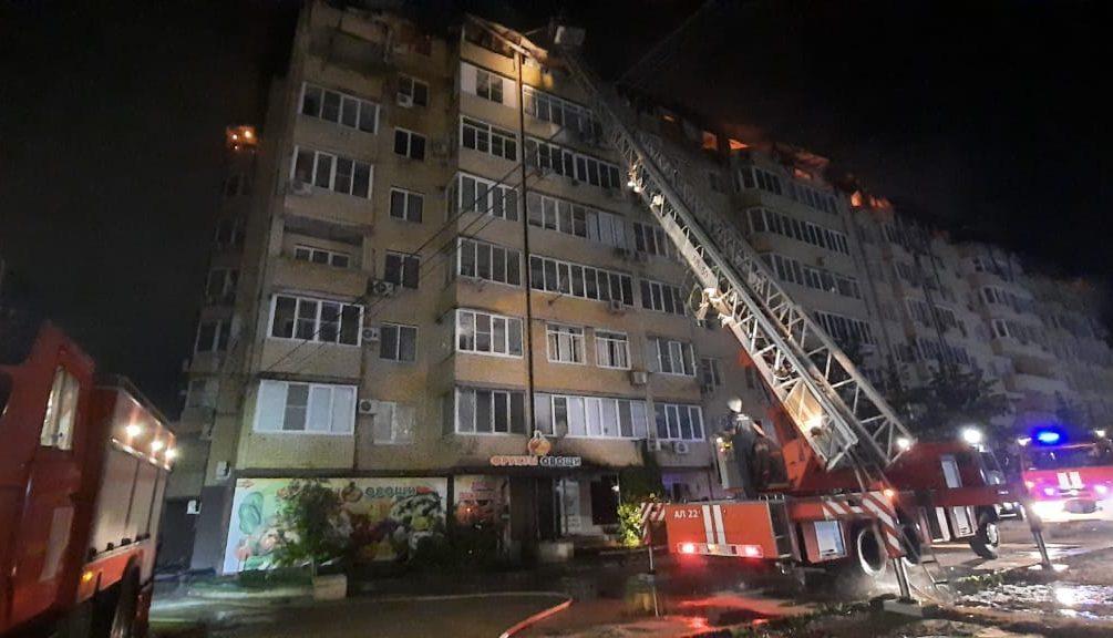 Крупный пожар произошел в Краснодаре