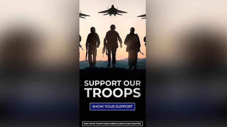 Штаб Трампа оконфузился: выпустил плакат с призывом поддержать армию России