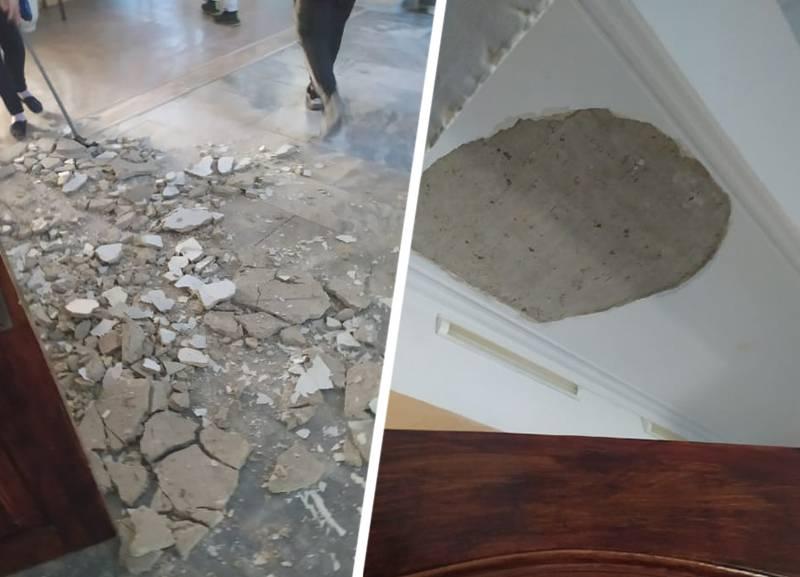 В ставропольской школе на девочку рухнул потолок. Ребенок находится в больнице