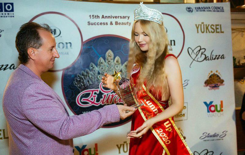 Российская модель Валерия Коваленко стала первой вице-мисс на международном конкурсе «MISS EURASIA-2020» в Стамбуле