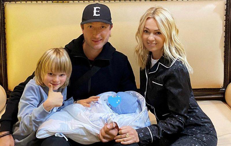 Яна Рудковская и Евгений Плющенко стали родителями во второй раз