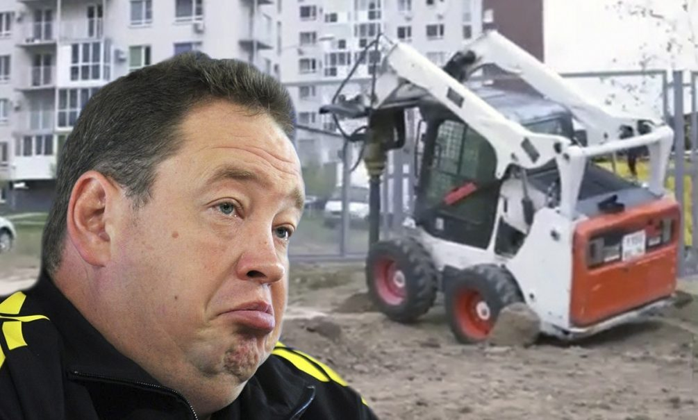 Конфуз с трактором произошёл на строительстве стадиона Леонида Слуцкого