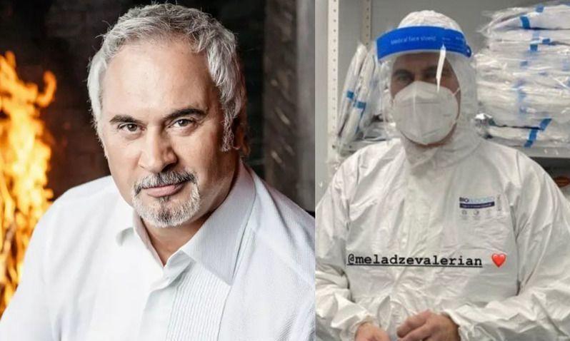 Валерий Меладзе навестил больных коронавирусом в «красной зоне» больницы