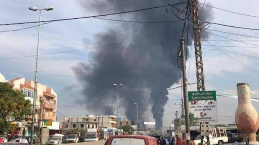 Опубликовано видео мощного взрыва на нефтепроводе в Ливане