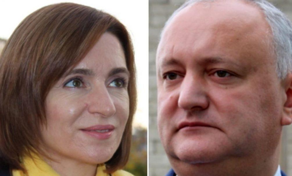 Майя Санду одерживает победу над Игорем Додоном во втором туре президентских выборов в Молдове