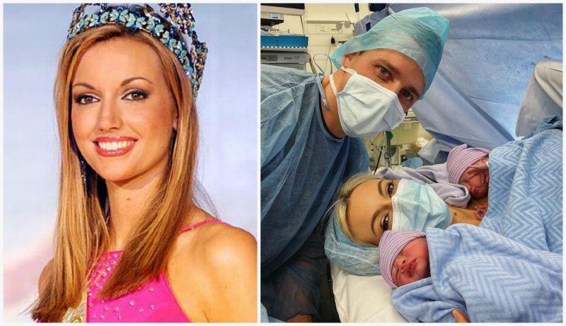 «Мисс Мира 2003» Розанна Дэвисон родила близнецов после 14-ти неудачных беременностей