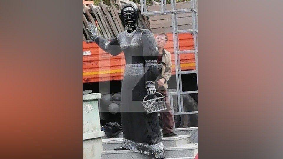 Фильм ужасов «Аленка-2»: у жуткой статуи из Нововоронежа раньше было другое лицо — еще страшнее