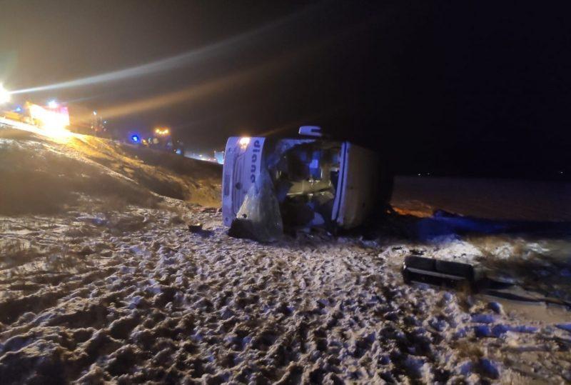 Скорее всего, водитель уснул: под Рязанью разбился рейсовый автобус, есть жертвы, тяжело ранены дети