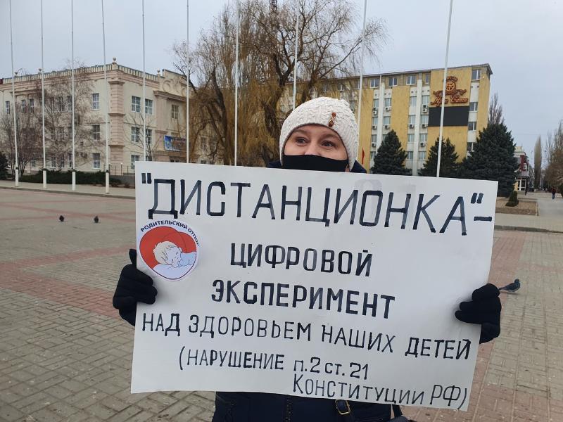 «Нет - дистанционному обучению»: в Ростовской области прошел пикет против удаленки в школах