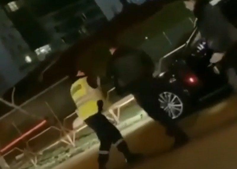 Цыган-мажор на Maserati затеял драку с полицейским и попал на видео