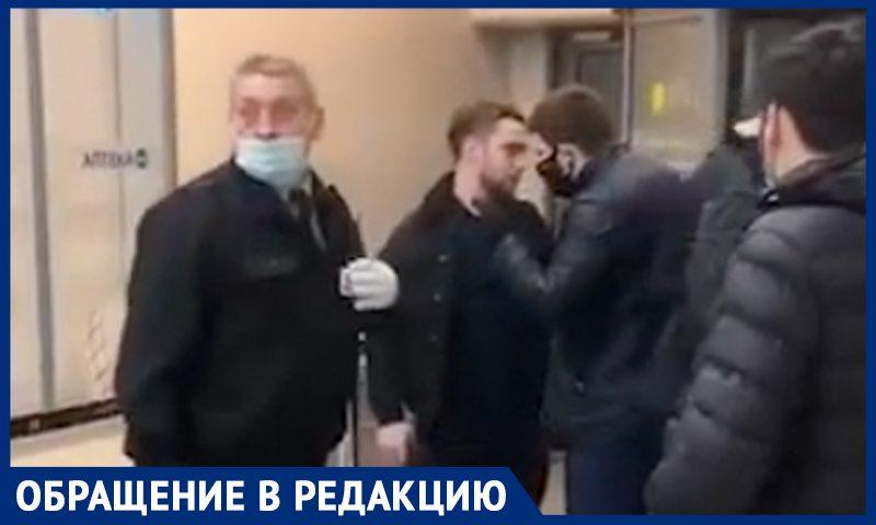 В престижном столичном ТЦ охранник набросился на покупателя из-за нарушения масочного режима