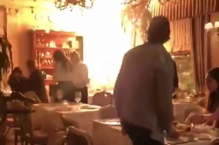 В Москве вспыхнул элитный ресторан Butler