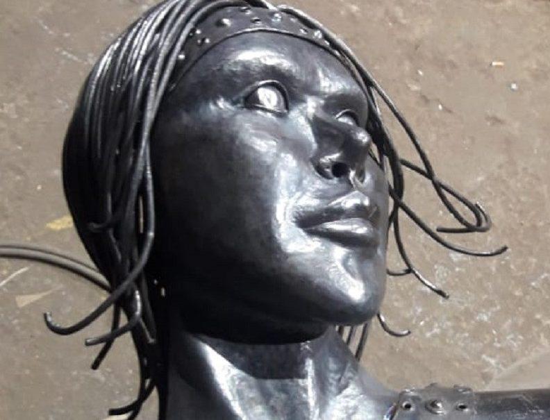 Ужасающий памятник «Аленка» пытались похитить с места хранения в Нововоронеже