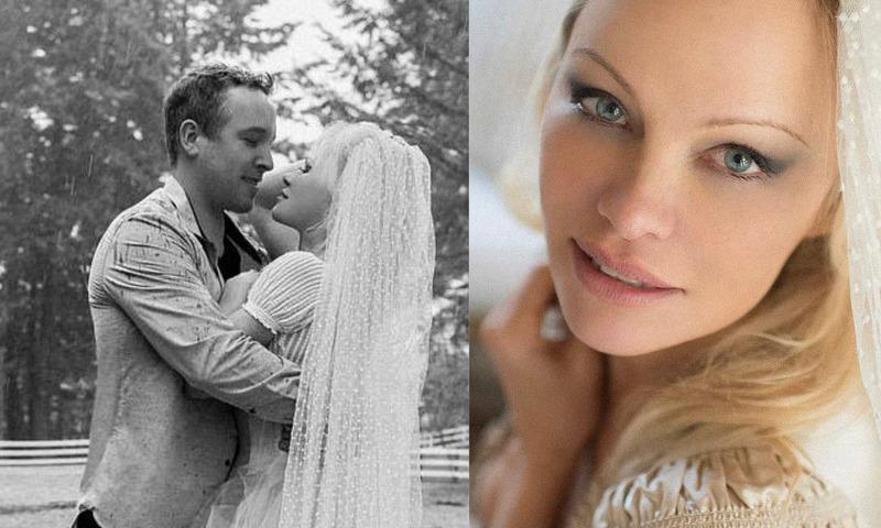 Под венец в шестой раз: Памелла Андерсон вышла замуж за своего телохранителя