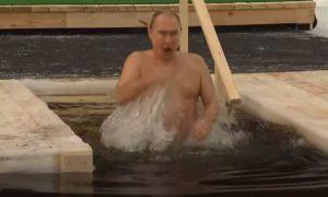 Путин окунулся в крещенскую купель в Подмосковье