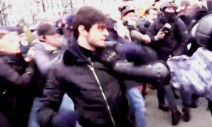 Полиция задержала чеченца-«берсеркера», избившего омоновцев на митинге 23 января