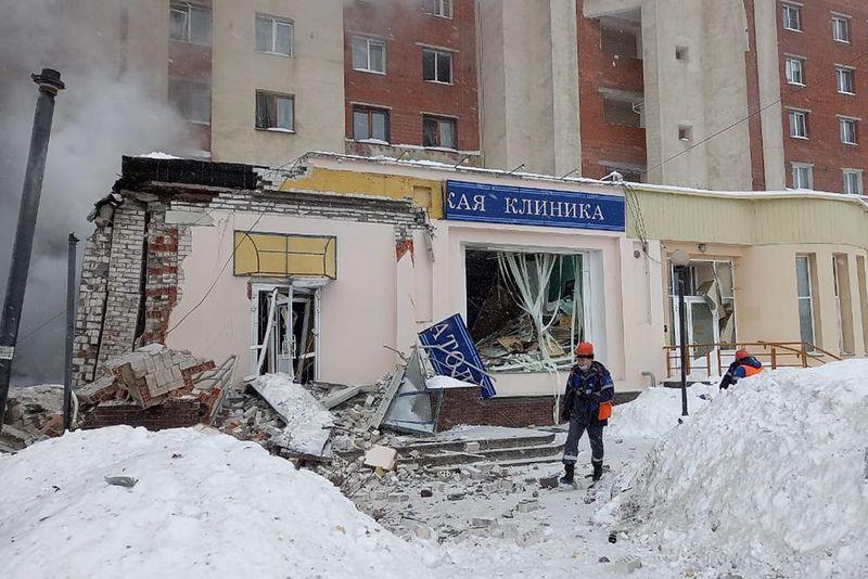 Момент взрыва, уничтожившего суши-маркет в Нижнем Новгороде, попал на видео