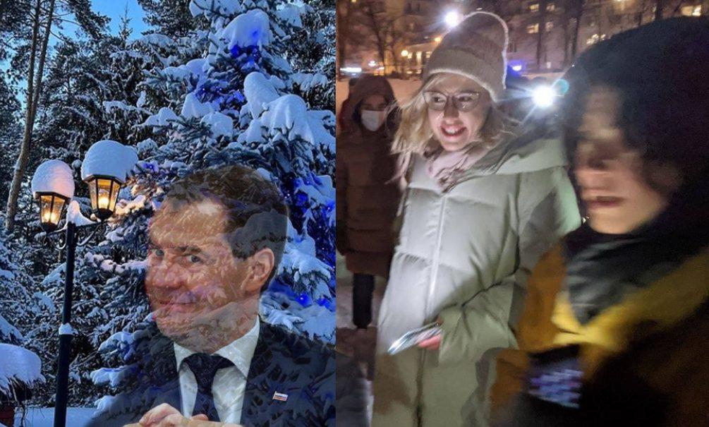 В России прошла акция с фонариками в поддержку Навального. Кажется, в ней принял участие и Дмитрий Медведев