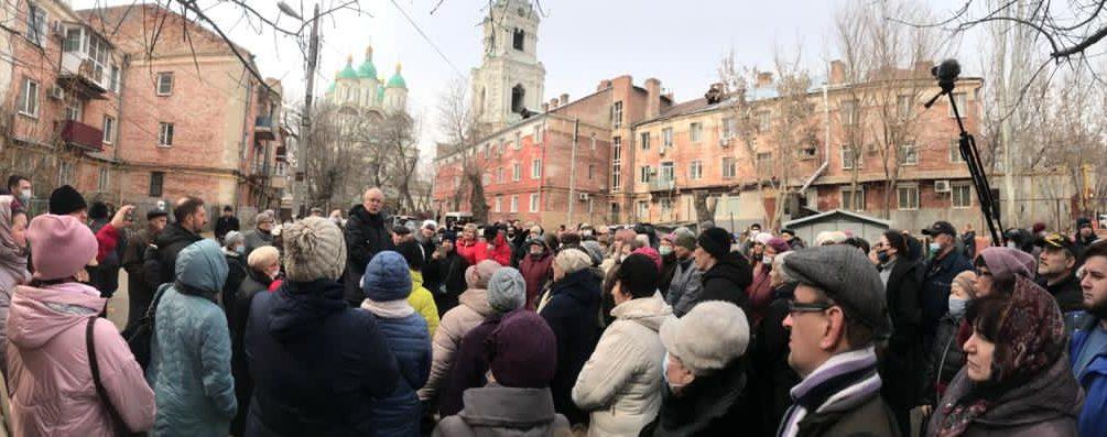 Мэрия Астрахани выгоняет на улицу стариков и детей