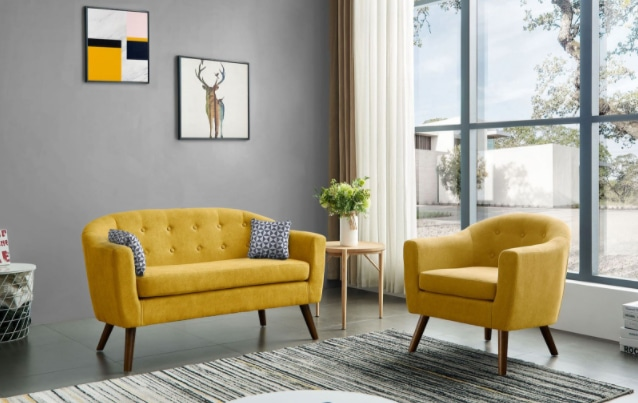 Двухместные диваны как идеальное решение для малогабаритных квартир