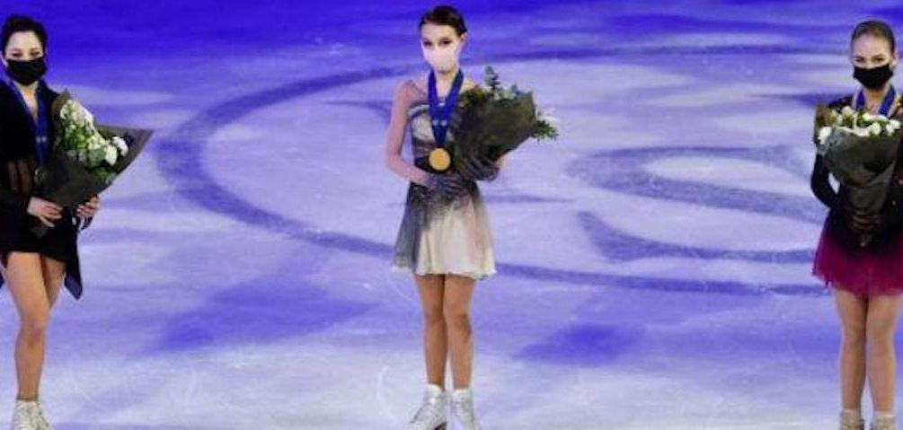 Впервые в истории российские фигуристки заняли весь пьедестал на чемпионате мира