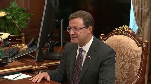 Дмитрий Азаров на встрече с Владимиром Путиным