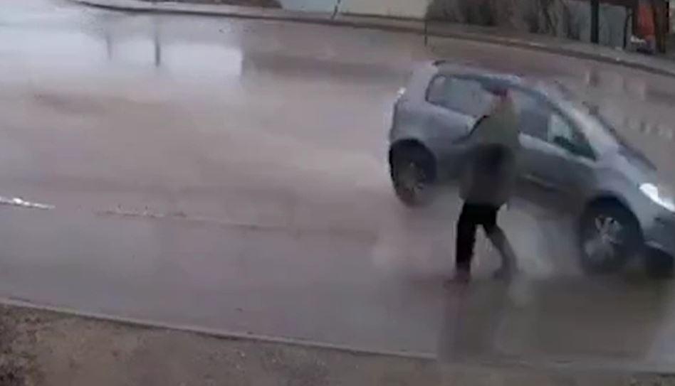 Чудесное спасение от неминуемой гибели попало на видео во Владимирской области