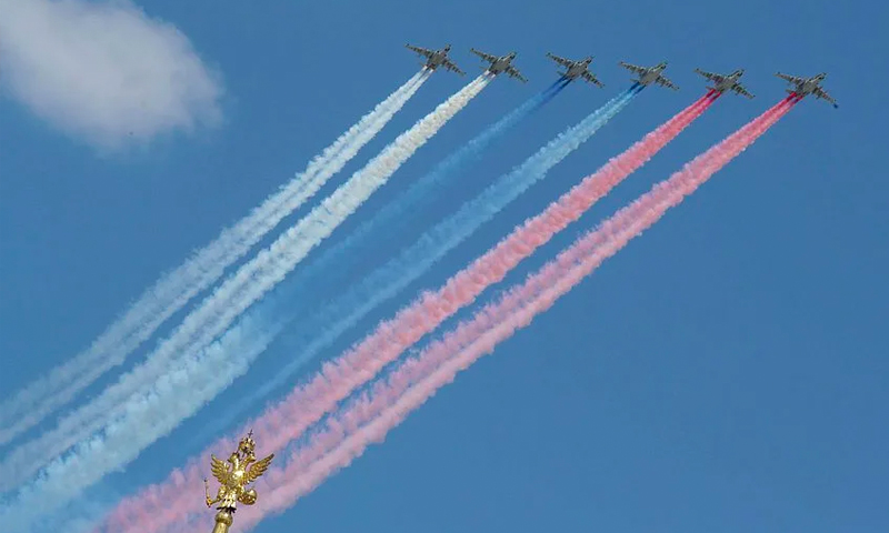 В Москве прошла репетиция воздушной части парада Победы
