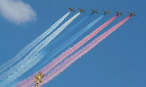 Над Москвой начали разгон туч за 400 миллионов рублей