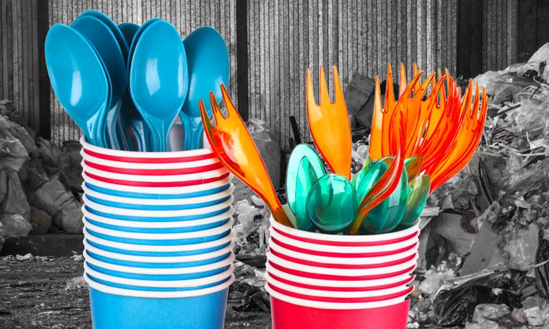 В России запретят одноразовую посуду и ватные палочки